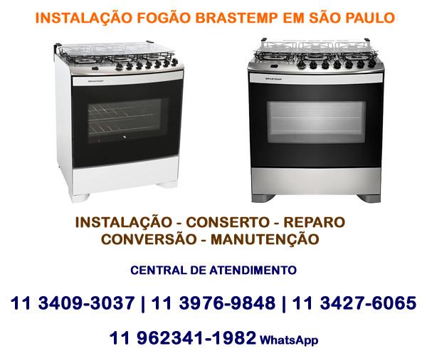 Instalação fogão Brastemp em São Paulo
