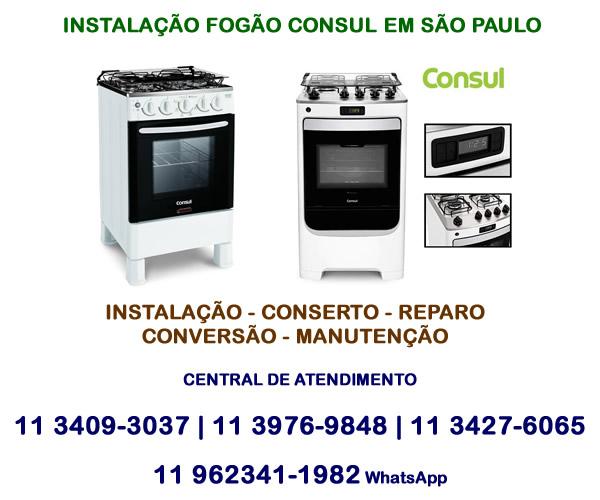 Instalação Fogão Consul em São Paulo