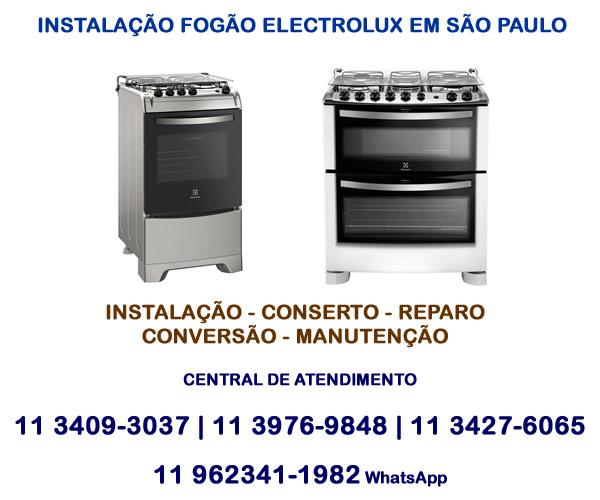 Instalação fogão Electrolux em São Paulo