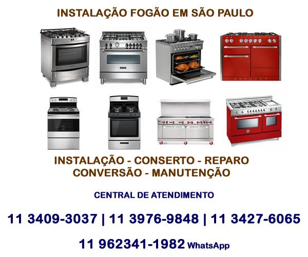 Instalação Fogão em São Paulo