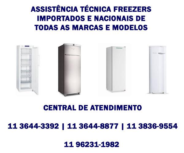 assistência técnica freezer importados e nacionais