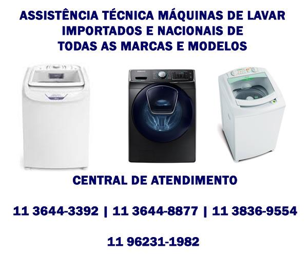 assistência técnica máquina de lavar importadas e nacionais
