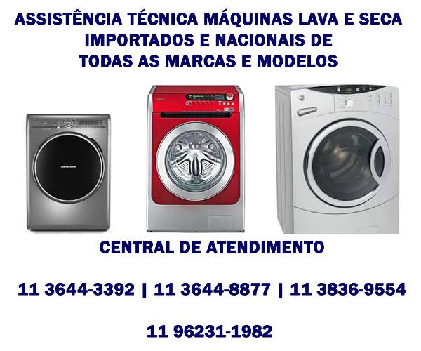 assistência técnica máquinas de lava e seca importadas e nacionais