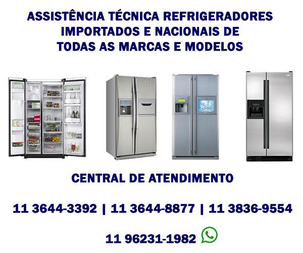 assistência técnica refrigeradores importados e nacionais