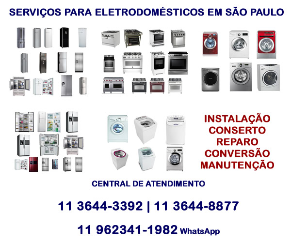 serviços para eletrodomésticos